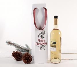 Weinkarton aus Karton mit Weihnachtsaufdruck