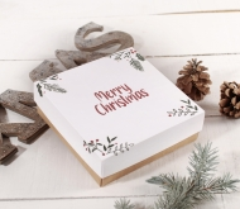 Weihnachtsgeschenk quadratische Box