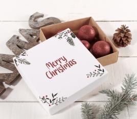 Caja cuadrada de regalo especial Navidad
