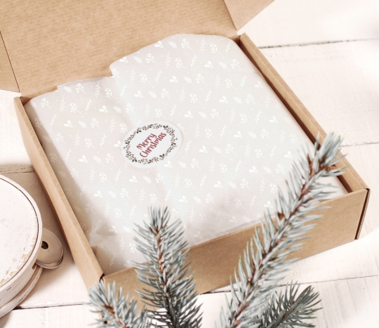 Papel de seda blanco para regalo
