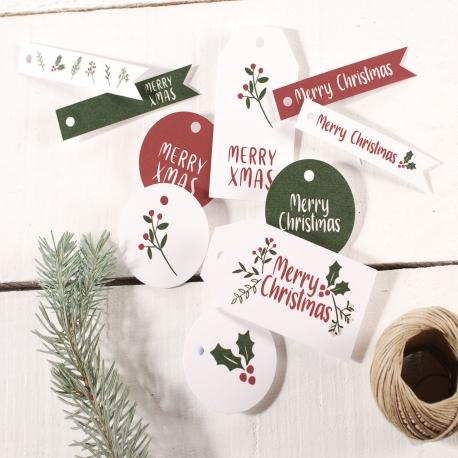 Pack de etiquetas navideñas