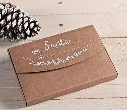 Brown kraft gift box Santa