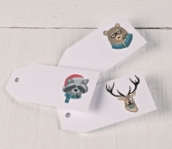 Printed gift tags Hipster Animals