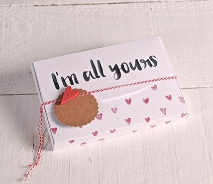 "Gift boxes with heart pattern ""All yours"""