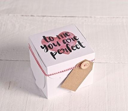 Cajas corazón con frase
