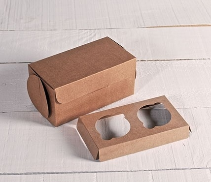 Set of 5 cupcake boxes for 2 cakes