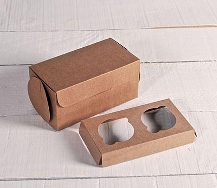 Set di 5 scatole per 2 cupcake