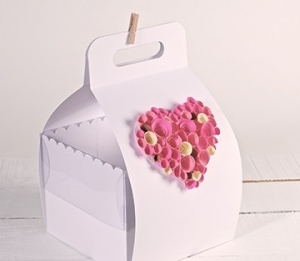 Box with handle for cakes