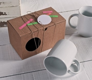 Scatola liscia per due tazze