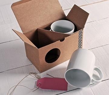 Schachtel mit Fenster für Tassen
