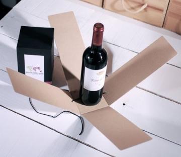 Caja para botella con cinta washi tape
