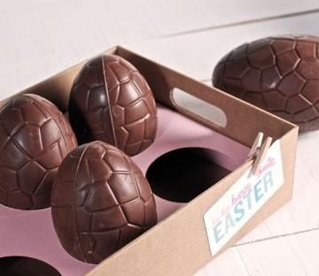 Bandeja de cartón para huevos de chocolate
