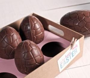 Vassoio in cartone per uova di cioccolato