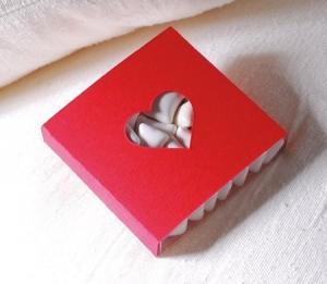 Die-cut box for Valentine's Day