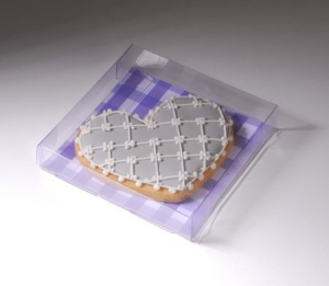 Plastic gift box for cookies
