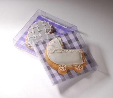 Caja de plástico para galletas