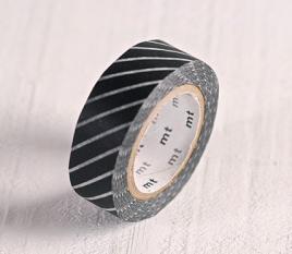 Washi Tape mit schwarzen Streifen