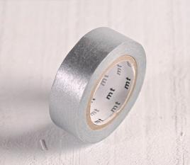 Washi tape MT argentato