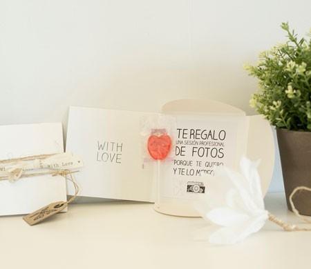 Caja regalo para CD con lazo rústico