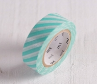 Washi tape barras turquesa