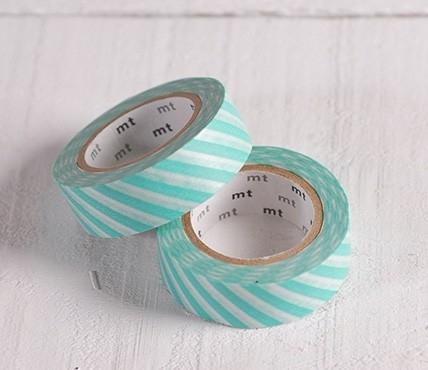 Washi tape barras turquesa