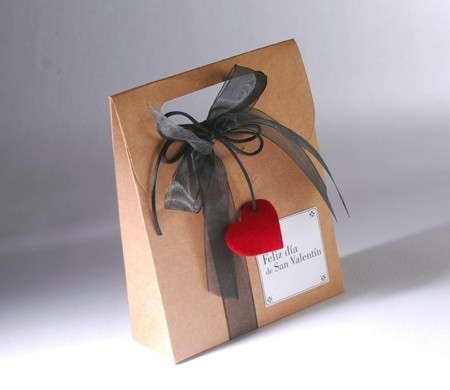 Sacchetto regalo kraft per San Valentino