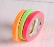 3 washi tapes colori fluorescenti