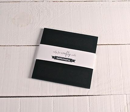 Black cards 16.5x16.5 cm