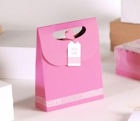 "Bolsa regalo rosa ""with love"""