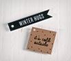 "Set of gift flag tags ""Winter Hugs"""