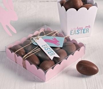 Transparente Schachteln für Schokolade-Eier