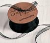 Geschenkband aus Musselin schwarz