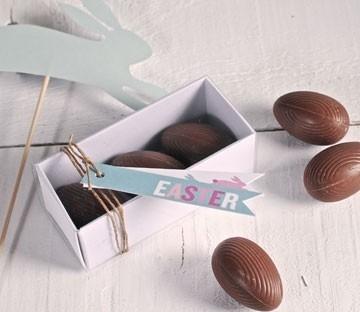 Cajas rectangulares para huevos de chocolate