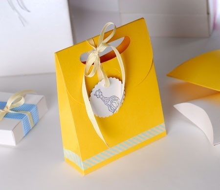Little gift bag with ribbon for baby shower