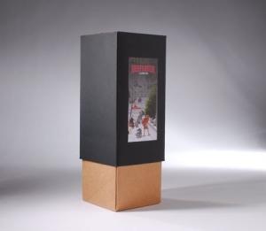 Bicolour gift box for bottles