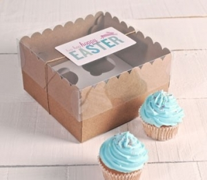 Hohe Boxen für 4 Cupcakes