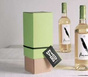 Scatola regalo bicolore per vino