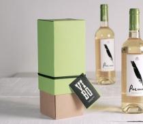 Caja botella de vino con tapa