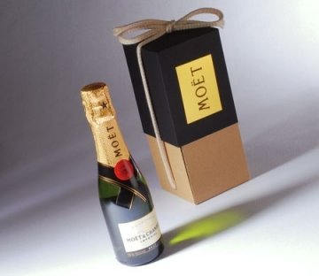 Box for small champagne bottles