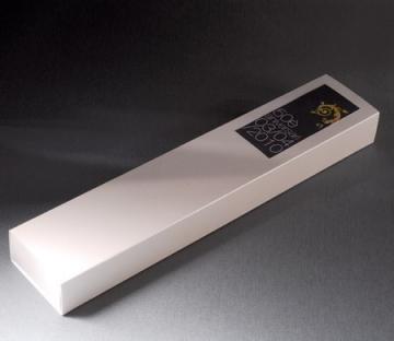 Elongated gift box for chocolates