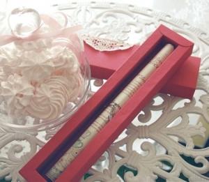 Little box for wedding invitations