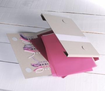 Carpeta cosida para regalo