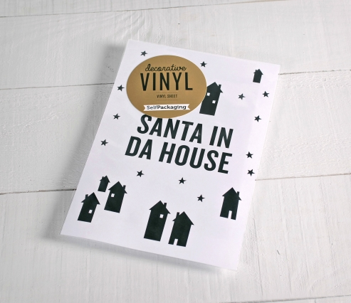 "Vinilos decorativos ""Santa in da house"""