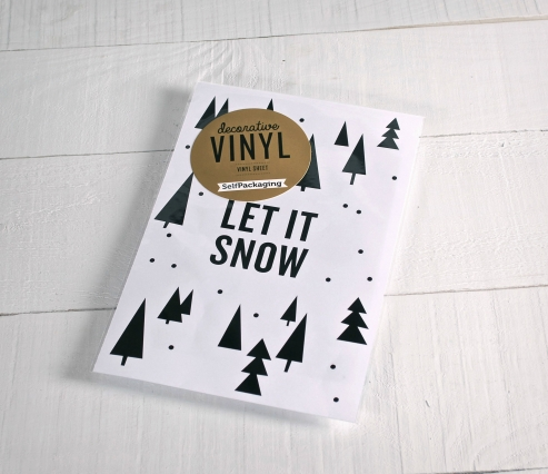 "Christmas wall stickers ""Let it snow"""
