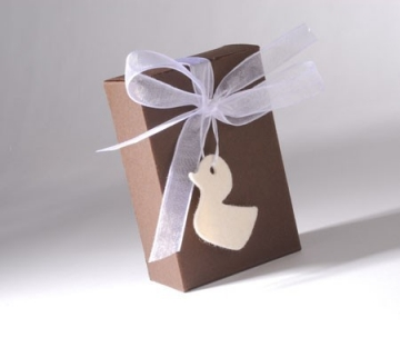 Gift box decorated for christening invitations
