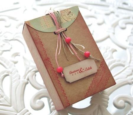 Decorated scrapbook box