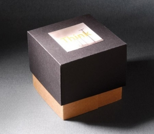 Square box with compartments