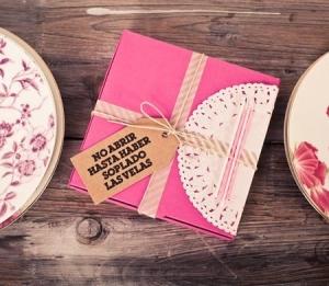 Caja regalo rosa para cumpleaños