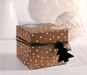 Square Christmas gift box