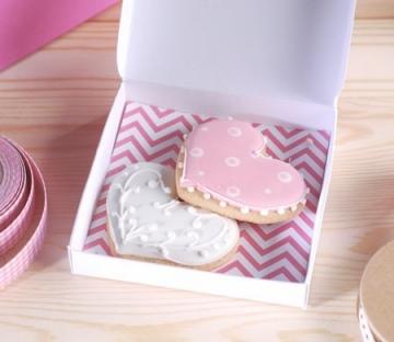Cajita plana para regalar galletas